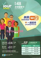 PCCW/CSL HONG KONG SIM CARD FREE WIFI CHEAP INTERNET DATA PLAN ROAMING OK