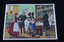 Affiche Pasteur vaccin Brazza et l'exploitation du Congo Rossignol 76*56 cm V136