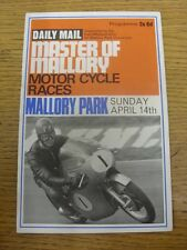 14/04/1968 Motor Cycle Programme: Master Of Mallory Motor Cycle Races [At Mallor