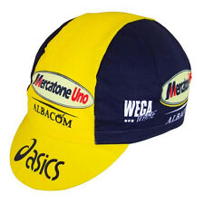 MERCATONE UNO ASICS RETRO CYCLING TEAM CAP - Vintage - Fixed Gear - Pantani