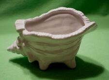 Vintage white porcelain footed SHELL SEASHELL.Open dish/catch-all.Excellent cond