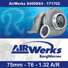 Borg Warner AirWerks S400SX4 Turbo-75mm-T6-Twin Scroll-1.32 A/R 500-1050hp
