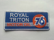 MOTORSPORTS  RACING SEW ON / IRON ON PATCH:- 76 ORANGE BALL ROYAL TRITON OIL