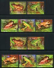 VIETNAM 2014 Frösche Frogs Gezähnt + Ungezähnt Perf/Imperf ** MNH