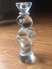 HAND MADE CZECH ART GLASS   Candleholder BERANEK PALECEK  DESIGN Sign 10 Inch