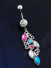 Fashion Body Piercing Jewelry Rhinestone Button Belly Button Rings Piercing Gift