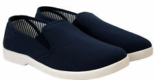 Mens slip on canvas Wide fitting Boys Trainers Plimsolls pump summer Beach shoes