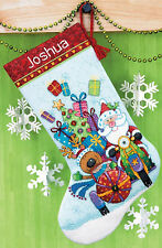 Cross Stitch Kit ~ Dimensions Santa's Sidecar Christmas Stocking #70-08867
