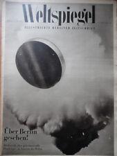 WELTSPIEGEL 14 - 1950  Geheimnisvolle Flugkörper über Berlin  + Mode + Radio