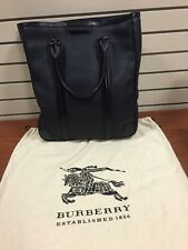 100% Authentic Burberry Men Tote Bag Black Leather. Original $1350
