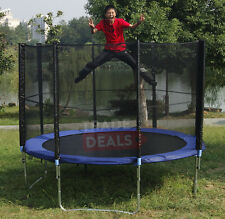 NEW 14 FT FOOT XL TRAMPOLINE WITH FREE RAIN COVER, LADDER, SAFETY NET, SHOE BAG