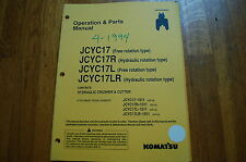 KOMATSU JCYC17 CRUSHER CUTTER Owner Operator Parts Manual book maintenance shear