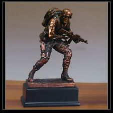 Military Armed Forces MARINE Beautiful Bronze Statue / Sculpture Brand New