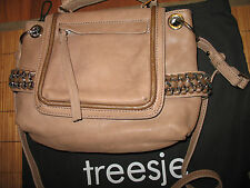 NWT Treesje Becket Moracy Collection Braided Chain Coverti Mini Satchel Oatmeal