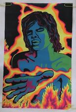 Mick Jagger Vintage Blacklight Poster The Rolling Stones Pin-up 1970's Third Eye