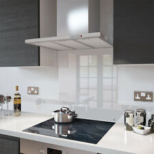 Clear - 90cm x 60cm Glass Splashback with Fixing Holes