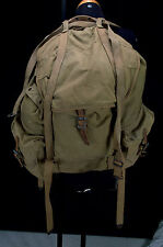 1949 VINTAGE WWII FIELD PACK CANVAS MILITARY BACKPACK BAG & Metal Frame