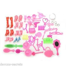 50 x bundle girls toy doll BARBIE accessories shoes hangers bags tiara set BC35