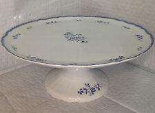 Fyrklovern Blue Mansion Fine China Cake Stand / Display / Serving Dish / Platter