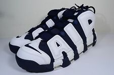 NIKE AIR MORE UPTEMPO size 14 OLYMPIC MIDNIGHT NAVY WHITE RED 414962 104