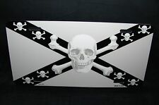 SKULL  CROSS BONES METAL ALUMINUM CAR LICENSE PLATE TAG