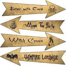 Party Arrows Halloween party decoration large set of 4 grunge