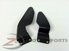 2002 2003 R1 Clutch Brake Rearset Foot Peg Mount Heel Guard Plate Carbon Fiber