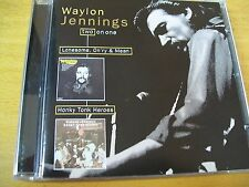 WAYLON JENNINGS LONESOME,ON'RY & MEAN - HONKY TONK HEROES  CD MINT-