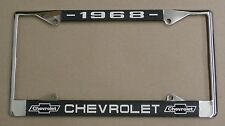 68 1968 Chevy car truck Chrome license plate frame