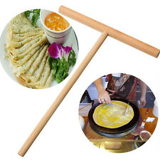 Crepe Maker Pancake Batter Wooden Spreader Stick Home Kitchen Tool Kit DIY Use