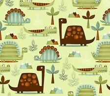 "Studio E Dino-Riffic DINOSAURS 3403-60 100% cotton 43"" fabric by the yard 36"""