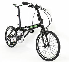"BLACK ALLOY FOLDING BIKE 20"" WHEELS SHIMANO 8 SPEED ULTRA LIGHT WEIGHT 13KG"