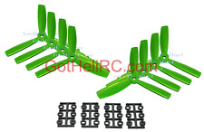 HQProp Tri Blades 5x4.5x3 Bull Nose GREEN MultiRotor propeller CW,CCW Mini 250mm