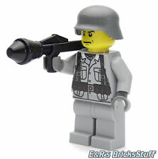 Ww2 Custom wehrmacht soldat avec Brickarms chars poing, personnage de LEGO ® parties