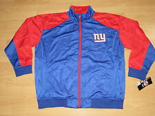 NEW YORK GIANTS NFL WARM-UP TRACK JACKET SIZE MENS XLT - TALL