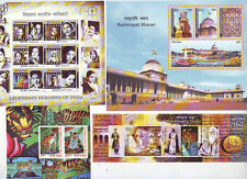 India Mint Miniatures Sheet Stamps 2011 Complete Coll of 8