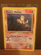 Blaine's Moltres (1/132) Gym Heroes Set Holo Pokemon Card. Near Mint Condition
