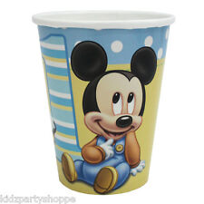 Disney Baby MICKEY MOUSE Hot Cold CUPS 1st Birthday Party Supplies Tableware