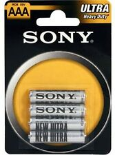 Confezione 4 Pile Batterie Sony New Ultra AAA R03 1.5V MiniStilo hsb