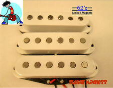G.M. 62'z Alnico 5 Single Coil Pickup Set (white)