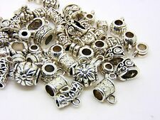 40g Pack Mixed Style Tibetan Silver Fancy Jewellery Bails Hollow Findings F62