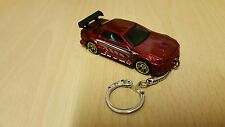 Diecast Nissan Skyline ( R32 ) Red Toy Car Keyring Keychain