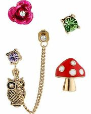 NWT Betsey Johnson® Enchanted Forest 5 stud set Earrings MSRP $38.00