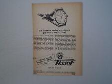 advertising Pubblicità 1950 OROLOGIO TISSOT MODELLO 27