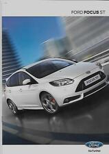 FORD FOCUS ST CAR SALES BROCHURE MAY 2012