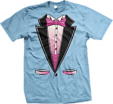 Pink Tuxedo Tux Fake Suit And Tie Classy Snazzy Formal Mens T-shirt