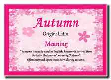 Autumn Personalised Name Meaning Jumbo Magnet