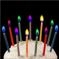 6pcs Colored Candles safe Flames Party Birthday Cake Decorations