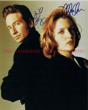 THE X FILES CAST AUTOGRAPHED 8x10 RP PHOTO GILLIAN ANDERSON DAVID DUCHOVNY XFILE