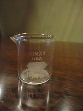 KIMAX Pyrex Vile Beaker Flask 10 ml Science Measureing Vintage